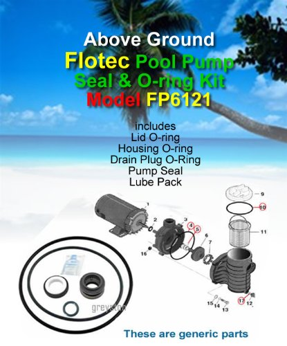 Above Ground FLOTEC FP6121-01 Pool Pump Seal & O-ring Kit Flotec Pool Pump
