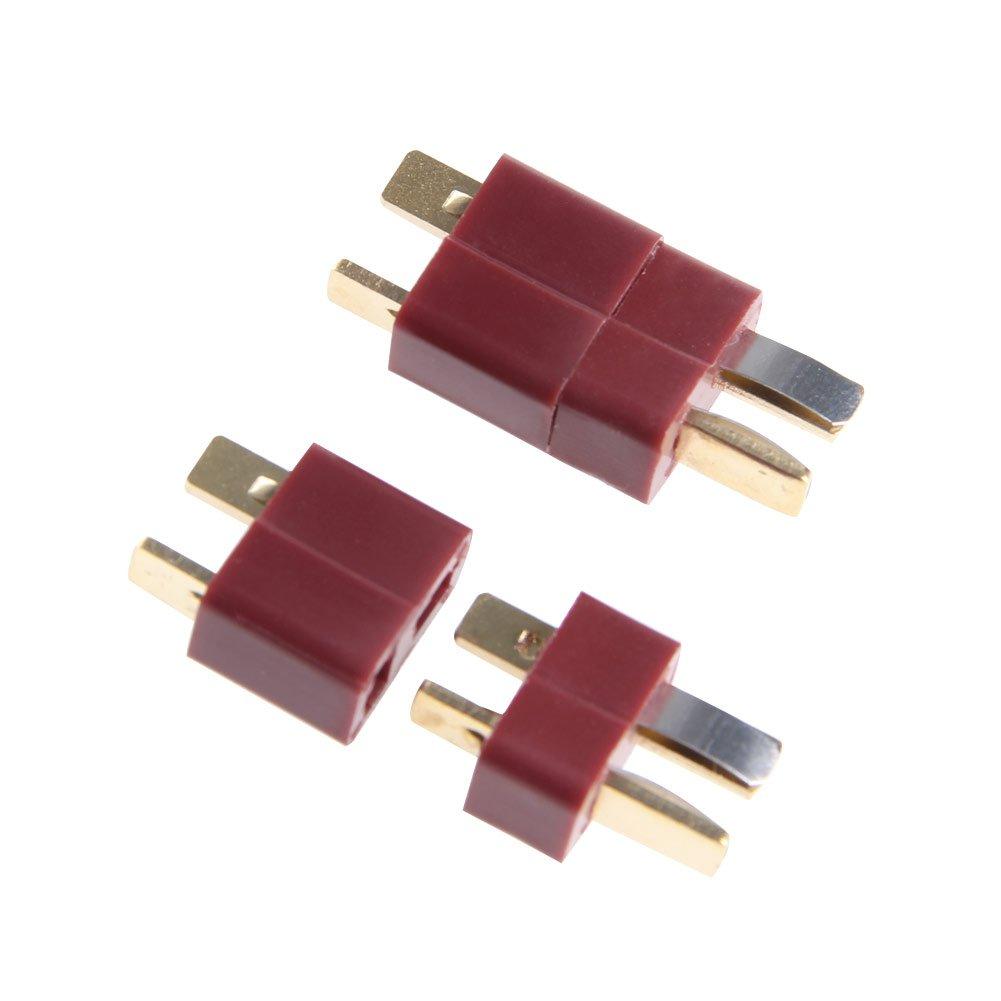 Runrain 10 Paires T Prise mâ le et Femelle de connecteurs Deans Style pour RC LiPo Batterie