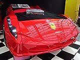 Childrens BLACK, WHITE, RED Ferrari 458 Italia Style Spider Racing Car Bed Frame (Red)