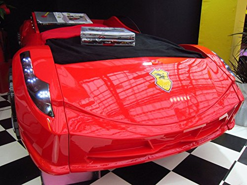 childrens-black-white-red-ferrari-458-italia-style-spider-racing-car-bed-frame-red