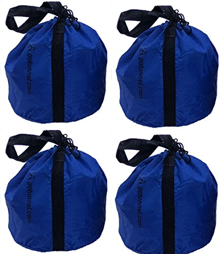 Economy Sand Bag Anchor Bags (with Handles) - Weights for Dog Agility Tunnels, Soccer Goals, Tents, Canopies, Photography, Production Events, Mic Stands and Other Equipment - 4 Bag Set