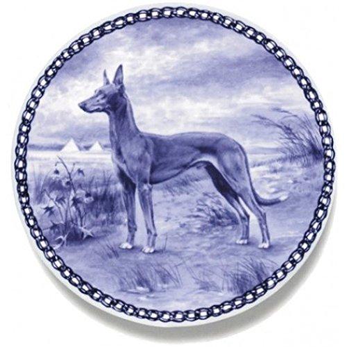 Skan Lekven Pharaoh Hound Danish Blue Porcelain Plate #7207