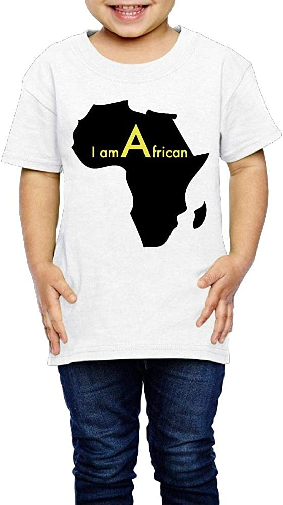 Baby Boys Girls I Am A African Cute T-Shirt Short Sleeve Tee for 2-6 Years Old