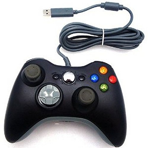 DEALINGAMES-Xbox-360-Wired-Controller-For-Windows-Xbox-360-and-Free-KEY-CHAIN-OF-PS3-REMOTE-LOOK-Sold-By-Dealingames