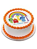 "Inside Out 7.5"" Round Edible Cake Topper (Each) - Party Supplies"