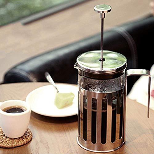 XIAOWEI Olla de Prensa Francesa de Acero Inoxidable Herramientas delicadas para cafetera émbolo de café teteras Tetera…