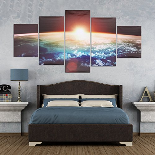 Palette Framed (5 Cascade Sunrise Earth Canvas Wall Painting Picture Home Decoration No Framed)