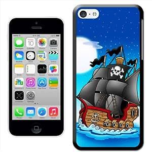 Fancy A Snuggle 'de barco pirata de noche' carcasa rígida para Apple iPhone 5C