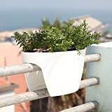 24 in. Railing and Deck Planter windowbox Greenbo XL (Pack of 6) from Greenbo, White