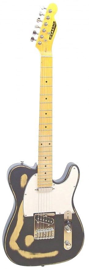 KEYTONE Guitarra Eléctrica TL Style Vintage Diseño Black: Amazon.es: Instrumentos musicales
