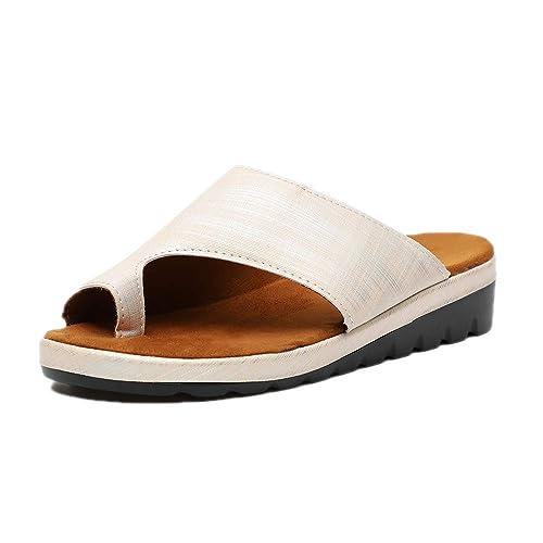 Sandalias Plataforma Mujer Cómodo Cuña Correctoras Juanetes Punta Abierta Zapatos Wedge Viaje Playa Verano Negro Marrón Plateado Dorado Leopardo 35-43 EU: ...