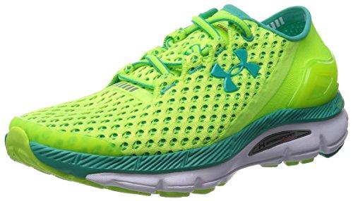 Women's Under Armour Speedform Gemini Running Shoes High Vis Yellow/White/Green Size 8.5 M US
