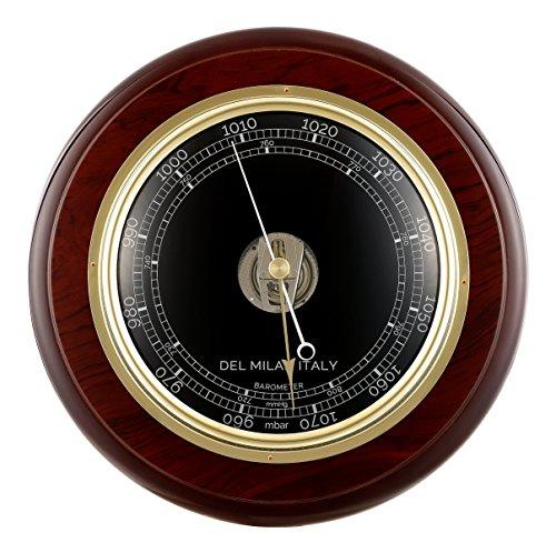 Mahogany Barometer (Del Milan Round Barometer, Mahogany Finish)