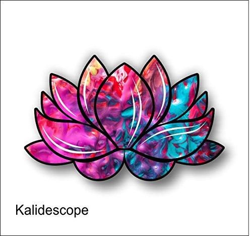 Vinyl Junkie Graphics Lotus Flower Decal/stickerFree USPS Standard Shipping (Kalidescope)