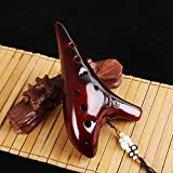 BaiLE Professional Ocarina 12 Hole Legend of Zelda Alto C for Professional Performance and Beginner,best Gift for Antique Collectors Vintage Masterpiece Collectible,(Painting-Wine)