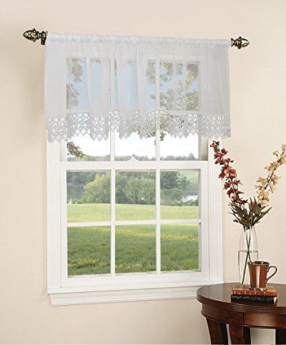 (Violet Linen Daisy WH Window-Treatment-valances, 60