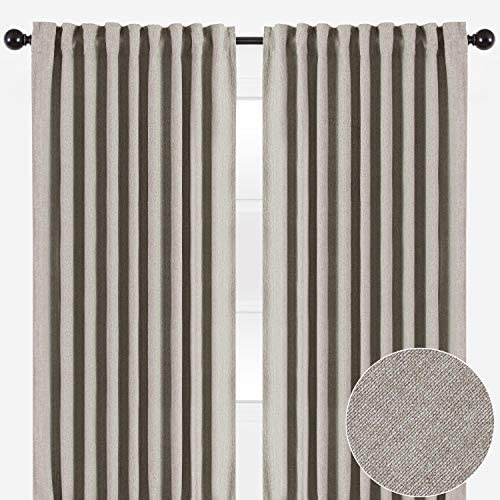 Chanasya Two Color Tone Textured Curtain Panels