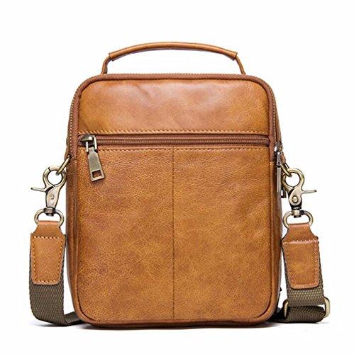 casual Surnoy de de Brown es 18 moda Bolso cuero multifuncional hombres Satchel cuero pulgadas Brown marrón marrón de qx0X10wT7r