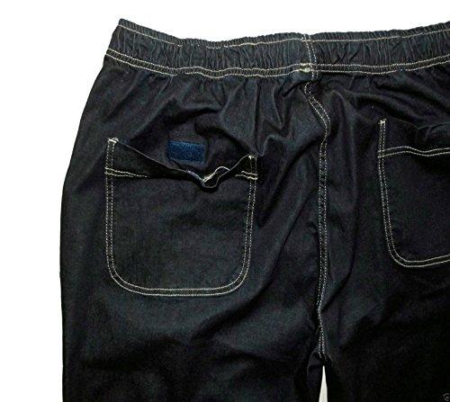Élastique Pantalon Jeans Ceinture Avec Abraxas En Foncé Bleu Surdimensionné PgqdTPXw