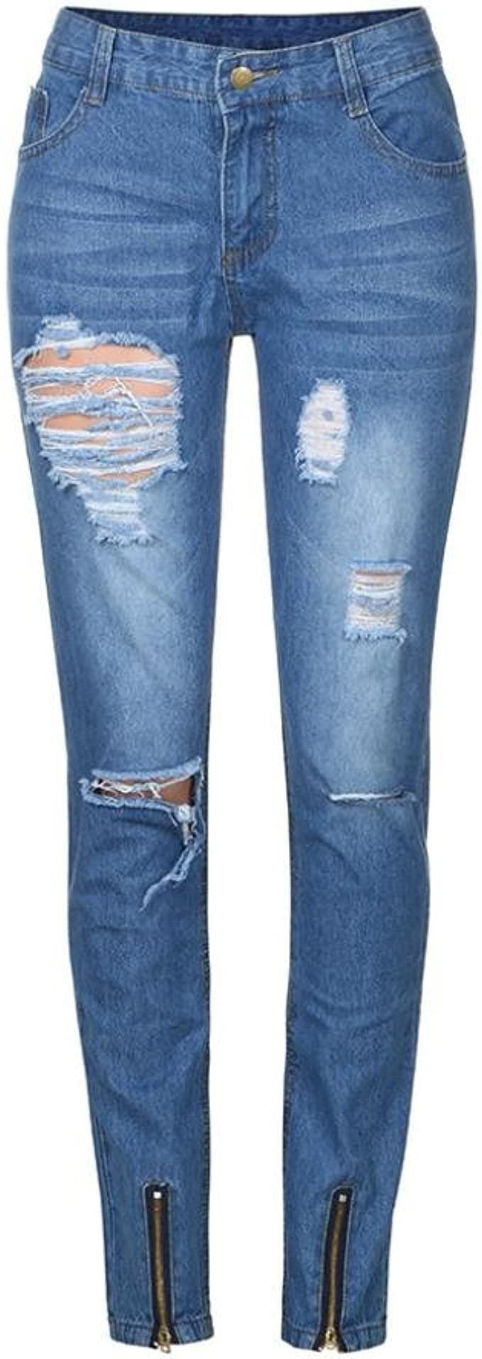 Littleice Casual Pant for Men,Mens Stretchy Slim Fit Denim Pants Casual Long Straight Trousers Skinny Jeans