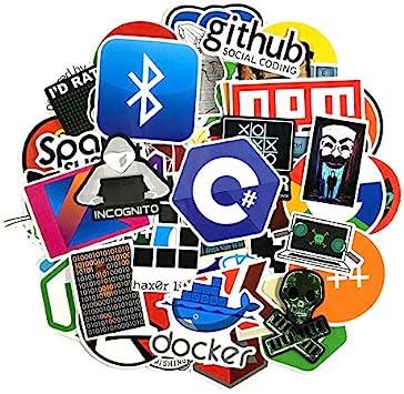 Inveroo 123pcs / Pack Meding Pegatinas Geek Hacker Sluggage Laptop ...