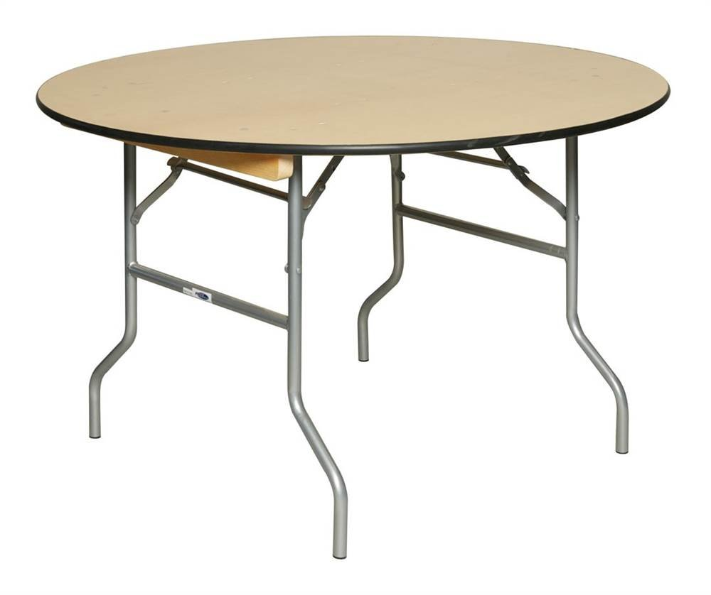 Round Table w Birch Plywood Top (48 in. Dia. x 30 in. H)