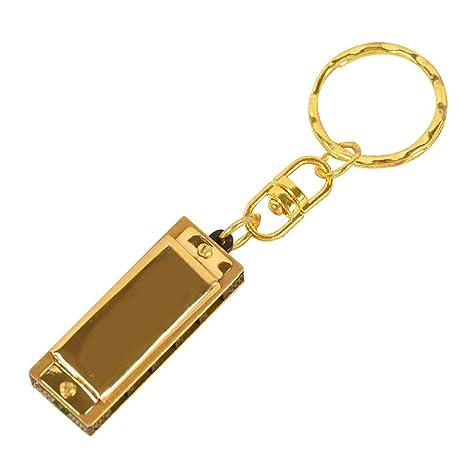 xMxDESiZ Mini 5 agujeros 10 tonos llavero armónica clave de ...