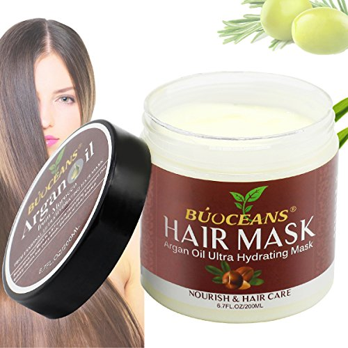 Argan Oil Hair Mask,100% ORGANIC Argan & Almond Oils, Jojoba