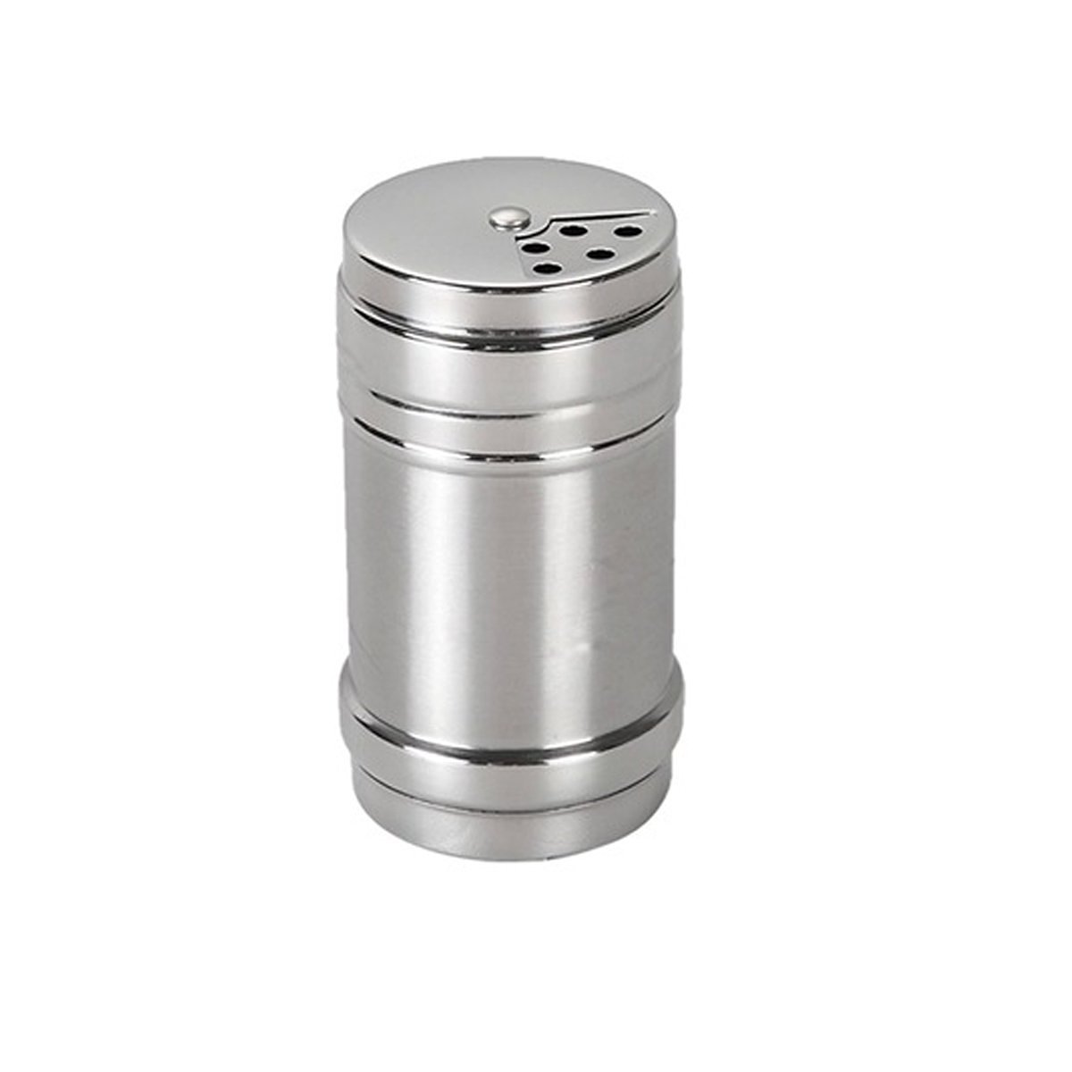 Verdental Stainless Steel Dredge Salt/Sugar / Spice/Pepper Shaker Seasoning Cans with Rotating Cover V-A-001