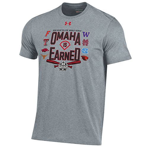 World Series Tee College - Under Armour 2018 NCAA College World Series CWS Omaha is Earned T-Shirt (L)