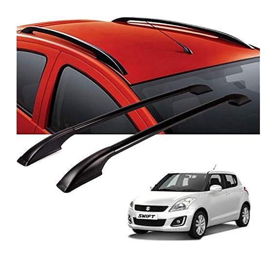 Semaphore (Black Drill Free Roof Rails for Maruti Suzuki Swift