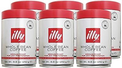 Illy Espresso Whole Bean Medium Roast 250g (6-pack)