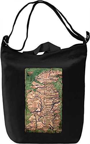 Medieval map Canvas Day Bag| 100% Premium Cotton Canvas| DTG Printing| Unique Handbags, Briefcases, Sacks & Custom Fashion Accessories For Men & Women