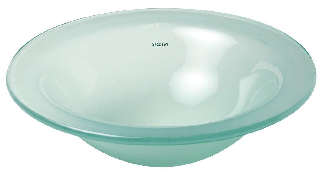 Wonderful DECOLAV 1000TU FNG Terra Translucence Round 12mm Tempered Glass Undermount  Bathroom Sink, Frosted Natural Glass   Vanity Sinks   Amazon.com