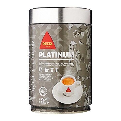 Delta Platinum - café molido en lata para filtro / prensa francesa y máquina 250gr (Universal): Amazon.es: Alimentación y bebidas