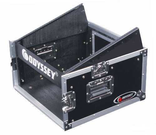 Odyssey FZ1004 Flight Zone Ata Combo Rack: 10u Slant, 4u Vertical