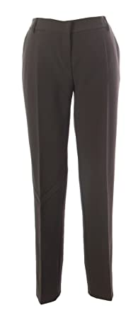 82de5e42f Image Unavailable. Image not available for. Color: BETTY GOODMAN Women's  Straight Dress Pants IT 46 Brown