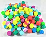 500 pcs 3ml Silicone Container Jar Round Non-Stick Mixed Colors Wholesale