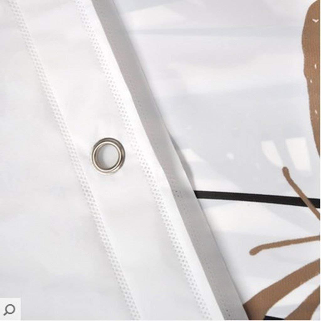 Tama/ño: 80 * 180cm c/álida 120x180cm Engrosada m/ás Gruesa Evita el Moho Material Impermeable Cortinas de Ducha 80x180cm BAIF Cortina de Ducha