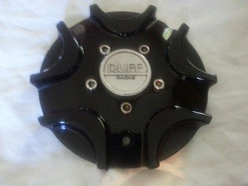 Racing Rims Ruff (Ruff R931 Black Wheel Center Cap NEW C-R931-B Rim Middle 931)