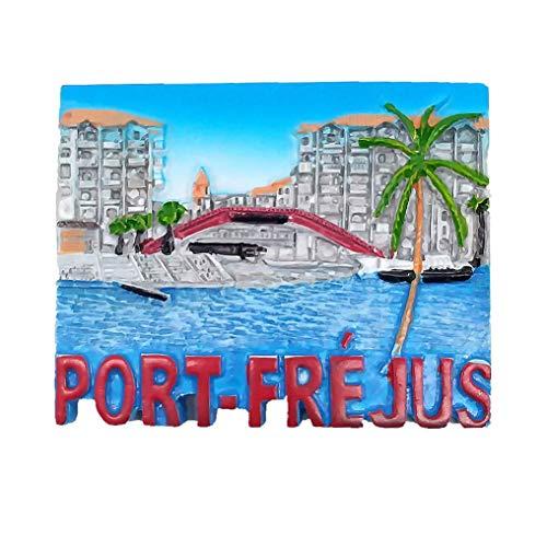 Frejus Provence-Alpes-Cote d'Azur France 3D Fridge Magnet Souvenir Gift Collection,Home & Kitchen Decoration Magnetic Sticker Frejus France Refrigerator Magnet