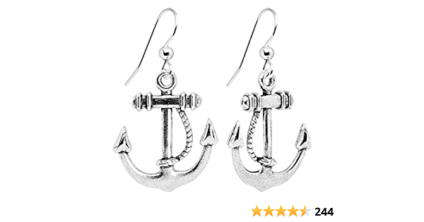 Anchor Earrings Laser Cut Earrings Nautical Earrings Rockabilly Anchor Earrings Green Earrings Pink Earrings Anchor Sailor Gift