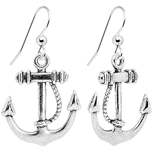 Body Candy Nautical Anchor Dangle Earrings (Drop Earrings Anchor)