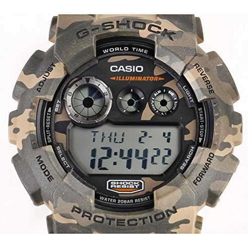 casio g shock gd 120cm 5er g shock uhr watch montre camo. Black Bedroom Furniture Sets. Home Design Ideas