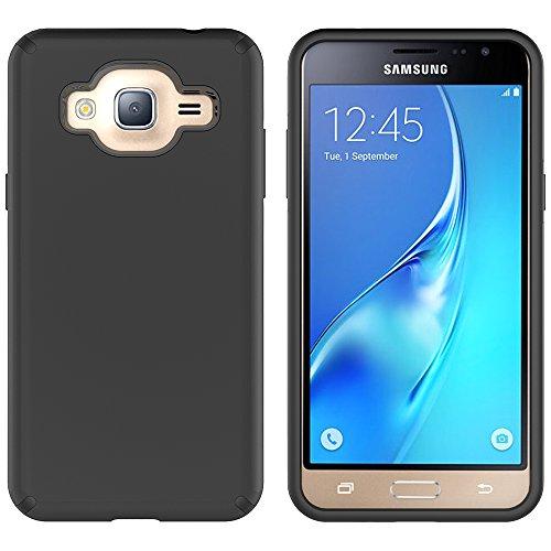Galaxy J3 Case, J3 (2016) Case, MagicSky Slim Corner Protection Shock Absorption Hybrid Dual Layer Cover For Galaxy J3, J3 (2016), J3 V, Express Prime, Amp Prime, Galaxy Sol, Galaxy Sky (Black)