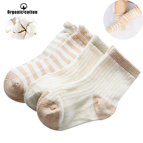 b5ae6586c1c8d ベビー ソックス 新生児 靴下 オーガニックコットン 通気性 柔らかい 8-10cm (4足セット