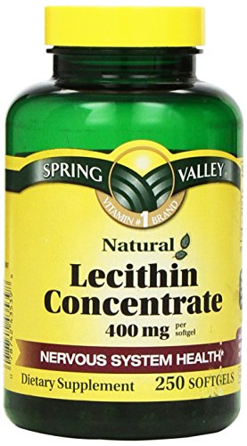 Spring Valley - Lecithin Concentrate - 400mg of Soy Lecithin per Serving, 250 softgels