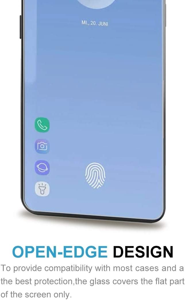 Screen Fingerprint Unlocking is Not Supported Anti-Scratch Screen Protector Premium Tempered Glass Screen Film 100 PCS 0.26mm 9H 2.5D Explosion-Proof Tempered Glass Film for Galaxy S10