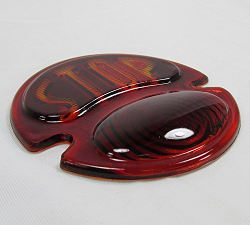 Two-Tone Glass Lens ONLY Custom Harley Motorcycle Chopper Bobber Stop DUOLAMP 1928-1931 Model A Tail Light
