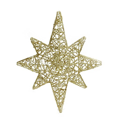 Brite Star 20'' LED Lighted Gold 3D Star of Bethlehem Hanging Christmas Decoration by Brite Star